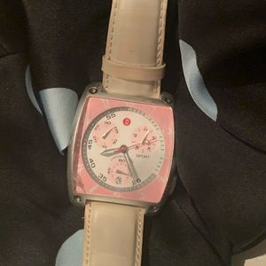 Pink Michele Watch
